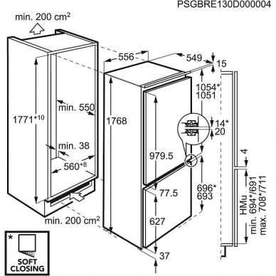 AEG SCE818D3LC Šaldytuvas įmontuojamas 2