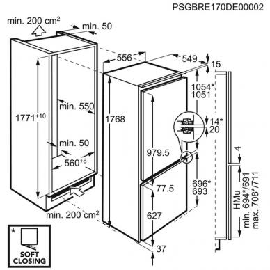AEG SCE818E6TF Šaldytuvas įmontuojamas 2