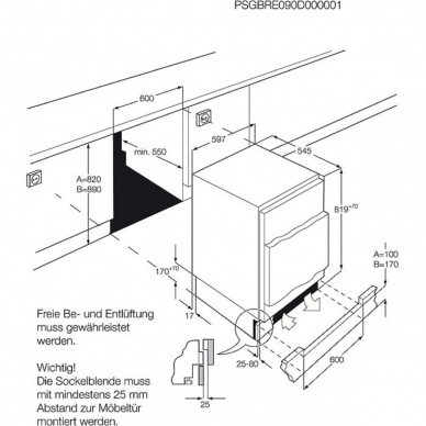 AEG SFB682F1AF Šaldytuvas įmontuojamas 2