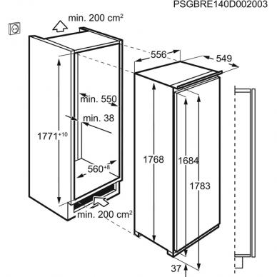 AEG SKE818E9ZC Šaldytuvas įmontuojamas 2