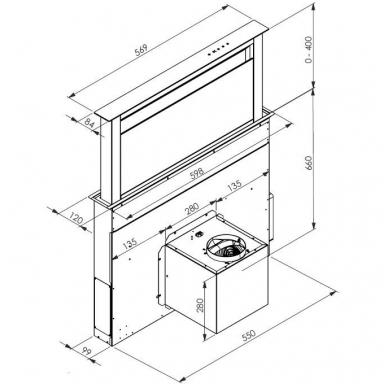 ALLENZI KA5010 60 cm Gartraukis įmontuojamas į stalviršį 2