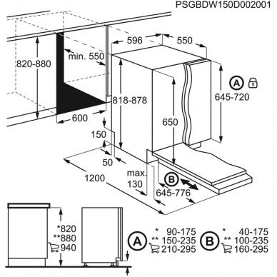 Electrolux EES27100L Indaplovė įmontuojama 60 cm pločio 2