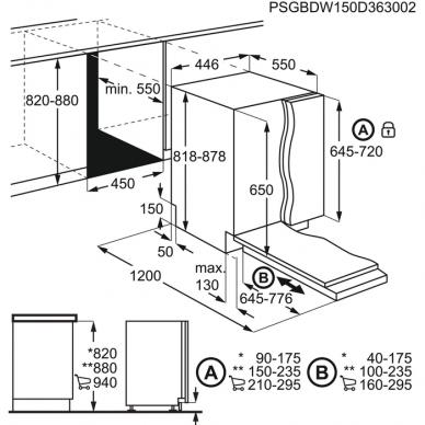Electrolux KEAD2100L Indaplovė įmontuojama 45 cm pločio 2
