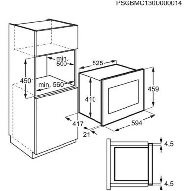 Electrolux KMFD264TEX Mikrobangė įmontuojama 2