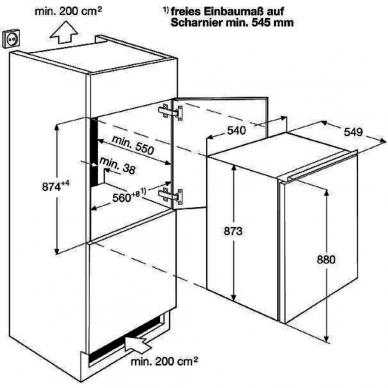 Electrolux LFB2AF88S Šaldytuvas įmontuojamas 2