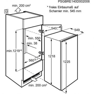 Electrolux LFB3AF12S Šaldytuvas įmontuojamas 2