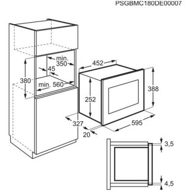 Electrolux LMS2203EMX Mikrobangė įmontuojama 2