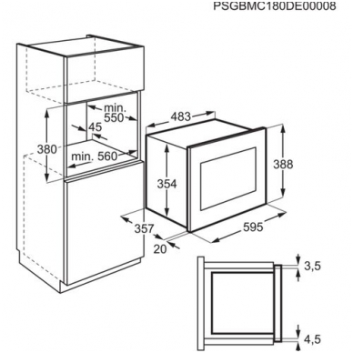 Electrolux LMS4253TMX Mikrobangė įmontuojama 2
