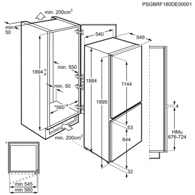 Electrolux LNS6TE19S Šaldytuvas įmontuojamas 2