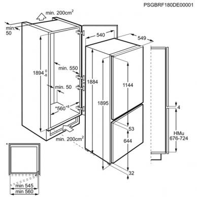 Electrolux LNS8FF19S Šaldytuvas įmontuojamas 2