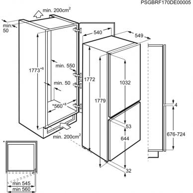 Electrolux LNT2LF18S Šaldytuvas įmontuojamas 2