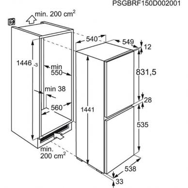Electrolux LNT3LF14S Šaldytuvas įmontuojamas 2