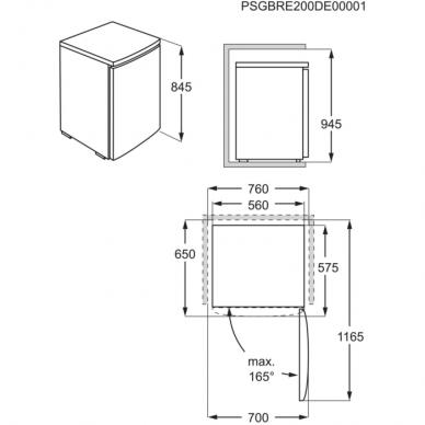 Electrolux LXB1AE13W0 Šaldytuvas stacionarus 2