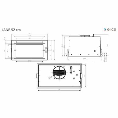 ELICA LANE IX/A/52 Gartraukis įmontuojamas 2