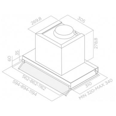 GARTRAUKIS Elica BOX IN PLUS IXGL/A/90 2