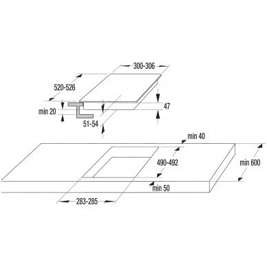 GORENJE ECT322BCSC Domino kompaktinė kaitlentė 2