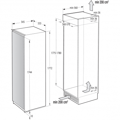 GORENJE RI5182A1 Šaldytuvas įmontuojamas 2