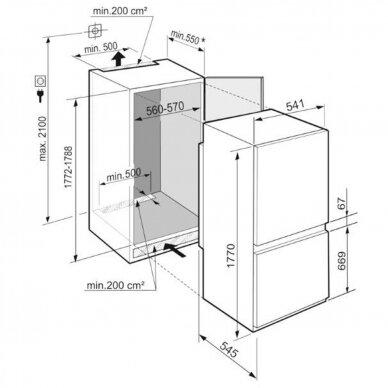LIEBHERR ICSe 5103 Šaldytuvas įmontuojamas 2