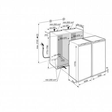 LIEBHERR SBS 70I4 Šaldytuvas įmontuojamas 2