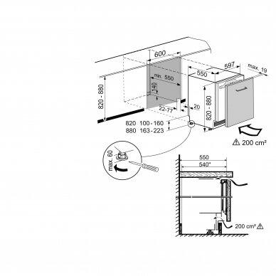 LIEBHERR UIKo 1550 Šaldytuvas įmontuojamas 2