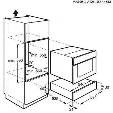 Pašildymo stalčius Electrolux EED14700OV 2