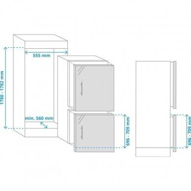 SAMSUNG BRB260135WW Šaldytuvas įmontuojamas 2