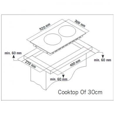 Schlosser ID 351 P Domino kompaktinė kaitlentė 2