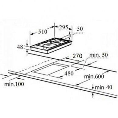 Schlosser PGH 321 GW FFD Domino kompaktinė kaitlentė 2