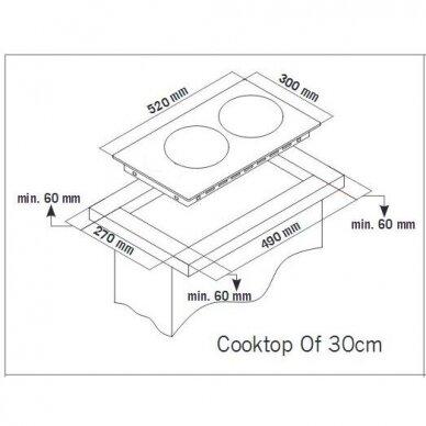 Schlosser THG 315 CF w FFD Domino kompaktinė kaitlentė 2