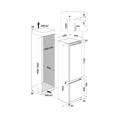 Whirlpool ART 9812 SF1 Šaldytuvas įmontuojamas 2