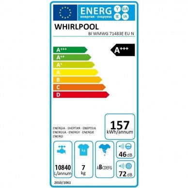 Whirlpool BI WMWG 71483E EU N Skalbimo mašina įmontuojama 3