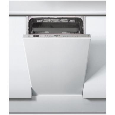 Whirlpool WSIO 3T223 PCE X Indaplovė įmontuojama 45 cm pločio